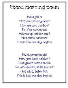 Poem of the Week Activities for the Primary Classroom | More ...