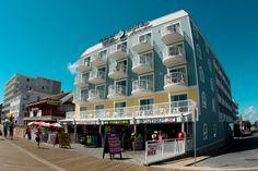 Tidelands Caribbean Hotel right on Ocean City, MD's famous boardwalk