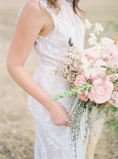 Bohemian beauty: http://www.stylemepretty.com/little-black-book-blog/2015/05/20/sweet-rustic-spring-bloom-wedding-inspiration/   Photography: Jake Anderson - http://jakeandersonphoto.com/