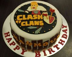 Clash Of Clans Cake Clash Of Clans Party Pinterest Cake