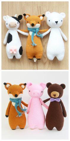 Tall Series Amigurumi Patterns by Little Bear Crochets: www.littlebearcrochets.com
