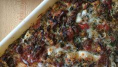 Three-Cheese Tomato and Artichoke Dip