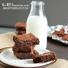 The Best Brownies Ever // Happy Food Healthy Life
