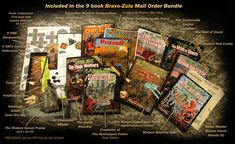 The Mutant Epoch RPG:: The Bravo-Zulu Deluxe Book Bundle Min Map, The Crossroads, Epoch, Zulu, Any Book, Own Home, Game Design, Paper Cutting, Hand Painted