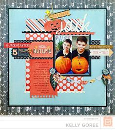 #papercraft #scrapbook #layout    Persimmon | Kelly Goree