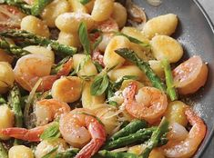 Skillet Gnocchi with Shrimp and Asparagus -- practically three if my favorite things
