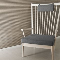The wave-like, three-dimensional surface of VIRE panel changes depending on the viewing angle Outdoor Chairs, Dining Chairs, Outdoor Furniture, Outdoor Decor, Three Dimensional, Home And Garden, Interior Design, Wood, House