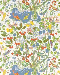 Tapet 19102: Paradiset Vit från Josef Frank / Svenskt Tenn - Tapetorama