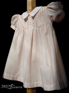 Collars, Etc. The Tuck Dress ---sews up into lovely dresses. Love this pattern… Baby Clothes Patterns, Dress Sewing Patterns, Clothing Patterns, Vintage Baby Clothes, Cute Baby Clothes, Doll Clothes, Frilly Dresses, Lovely Dresses, Easter Dresses For Toddlers