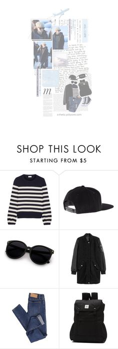 """""""BOTBB: Suga's Airport Fashion"""" by s-thetic ❤ liked on Polyvore featuring Munro American, Yves Saint Laurent, UNIF, Cheap Monday, Vans, Whiteley, kpop, bts, BangtanBoys and Suga"""