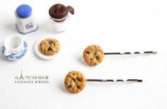 Hey, I found this really awesome Etsy listing at https://www.etsy.com/listing/196466441/chocolate-chip-cookie-bobby-pin-hair