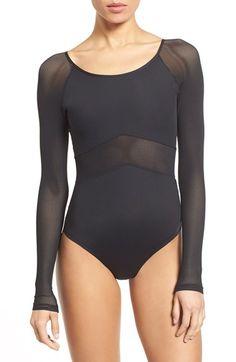 IVY PARK® Mesh Panel Bodysuit http://www.uksportsoutdoors.com/product/under-armour-storm-rival-cotton-fitness-women-full-zip-hoody/