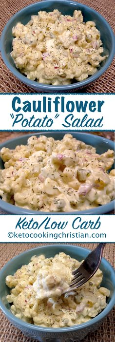 "Cauliflower ""Potato"" Salad - Keto and Low Carb"