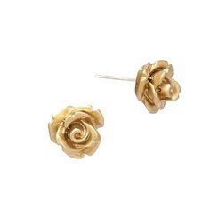 Mini Rose Earrings- Gold $18.50