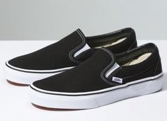 Shop Women's Vans Black White size Shoes at a discounted price at Poshmark. Description: Size - vans slip on - used condition - machine wash will clean them right up! Vans Slip On, Slip On Sneakers, Slip On Shoes, Classic Sneakers, Vans Sneakers, Flat Shoes, Converse, Women's Shoes, Shoes 2017