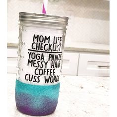 Items similar to Mom Glitter Tumbler // Mom Life Glitter Coffee Mug // Mom Coffee Mug // Mom Mason Jar Tumbler // Glitter Mason Jar Tumbler // Gift for Mom on Etsy Mason Jar Cups, Mason Jar Tumbler, Mom Tumbler, Glitter Mason Jars, Coffee Tumbler, Glitter Cups, Wine Tumblers, Custom Tumblers, Tumbler Cups