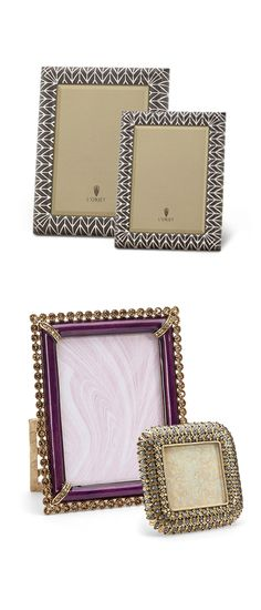 Bring your memories to life with picture-perfect frames from L'Objet & Jay Strongwater.
