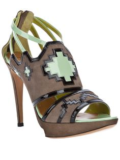 POLLINI Patterned Sandal