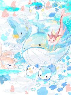 There's a shiny vaporeon! Pokemon Go, Water Type Pokemon, Pokemon Memes, Pokemon Fan Art, Pokemon Mignon, Pokemon Collection, Mudkip, Dibujos Cute, Pokemon Pictures