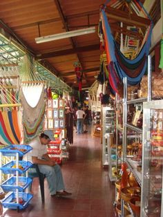 Craft market at Masaya, Nicaragua- this is considered the tourist's market and is nicer, but pricier