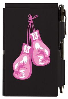 Breast cancer tough t boxing gloves