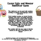 Free! Easter Eggs & monsters for students working on speech and language, or use in centers.