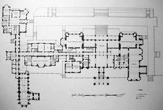 Eaton Hall, Cheshire. Architect - Alfred Waterhouse. Main floor.
