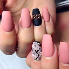 matte nail designs with rhinestones - styles outfits Nail Design, Nail Art, Nail Salon, Irvine, Newport Beach