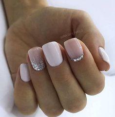 130 glitter gel nail designs for short nails for spring 2019 page 20 - Nageldesign - Nail Art - Nagellack - Nail Polish - Nailart - Nails - Nagel Acrylic Nail Designs, Nail Art Designs, White Nail Designs, Cute Nails, Pretty Nails, Nails Factory, Design Ongles Courts, Short Gel Nails, Long Nails