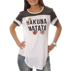aa291039 Lion King - Women's Hakuna Matata Drapey Tunic Football Short Sleeve  Graphic T-Shirt - Walmart.com