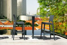 Perfect Couple: RIVA Bar Table with JAMAICA Bar Stool [Siesta Exclusive | Rattan Collection | RIVA 888 Bar Table]