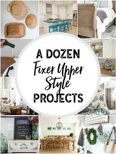 A Dozen Fixer Upper Style Projects How to get that farmhouse or Fixer Upper Style with home DIY projects!  sc 1 st  Pinterest & Tips and tricks for decorating with baskets | Pinterest | Organizing ...