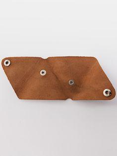 DIY Fashion - no sew, minimal leather triangle coin purse; craft project idea