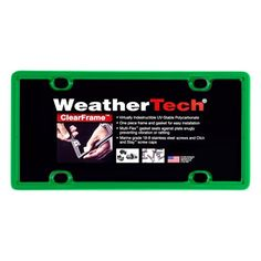 Kelly Green ClearFrame License Plate Frame - ClearFrame(TM) License Plate Frame by WeatherTech(R). Made from highly durable polymer, featuring Multi-Flex(TM) Gasket that seats against your plate snugly preventing vibration or rattling. FEATURES 1-piece construction for easy installation Stepped lip design to fit license plate snugly Click and Stay(TM) screw caps Virtually indestructible 1 License Plate Frame per order Stainless Steel hardware kit included to fit most vehicle applications The…