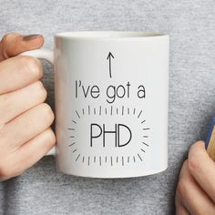 A super graduation gift for a family member or friend who has just achieved a PHD, our PHD mug is a great gift and keepsake for friends or family!