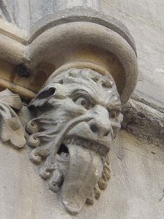 this bizarre gargoyle has a appearance similar to something Hieronymus Bosch would have created. Gothic Architecture, Architecture Details, Gothic Gargoyles, Architectural Sculpture, Stone Sculpture, Metal Sculptures, Vampire, Green Man, Stone Carving