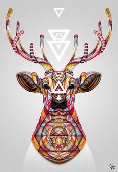 """""""Oh Deer!"""" digital painting  by Giulio Rossi"""