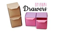 Origami Pull Out Drawers Instructions ♥︎ Tutorial ♥︎ DIY ♥︎