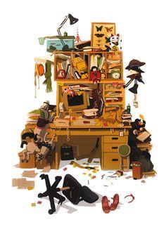 "Stills from ""A Tribute to Satoshi Kon"" french exhibition (online gallery). Satoshi Kon passed away 4 years ago. Bg Design, Prop Design, Character Design Animation, Character Art, Satoshi Kon, Japon Illustration, Cartoon Background, Visual Development, Environmental Art"