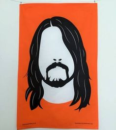 Dave Grohl Tea Towel Foo Fighters by KatyBladesShop on Etsy Orange Tea Towels, Foo Fighters Dave Grohl, Learn To Fly, Etsy Uk, Screen Printing, Cool Stuff, Awesome Things, Rock, Illustration