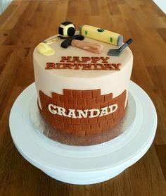 Builders theme birthday cake Cake for grandad