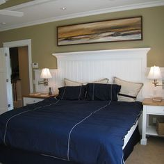 white beadboard headboards - Google Search
