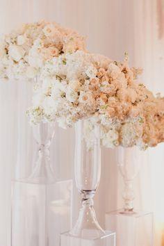 Gorgeous ivory and blush blooms: http://www.stylemepretty.com/california-weddings/san-francisco/2014/12/10/classic-san-francisco-wedding-at-the-st-regis/ | Photography: Jennifer Skog - http://www.jenniferskog.com/