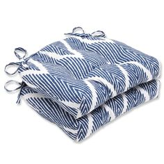Attrayant Nothing Says Nautical Like Rich Blue And White Hues, And These Chair  Cushions Scream Coastal