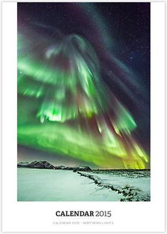Calendar 2015 - Northern lights