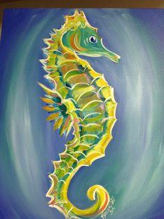 2013 acrylic seahorse