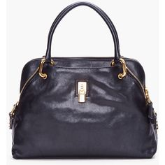 MARC JACOBS Black Paradise Rio Tote ❤ liked on Polyvore
