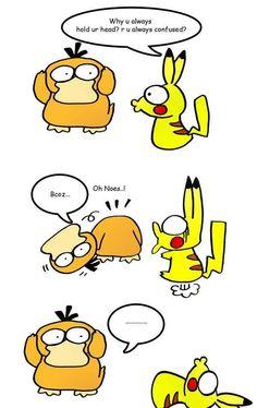 That's a little... #funny #pokemon #pikachu #psyduck