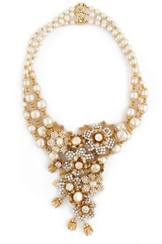 Miriam Haskell Calla Lily Cluster Necklace $150 is for rent!!