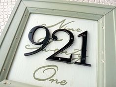 this is a cool way to make your own house number!